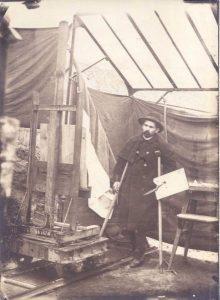 Dagnan-Bouveret à Ormoy en1889 dans son atelier.
